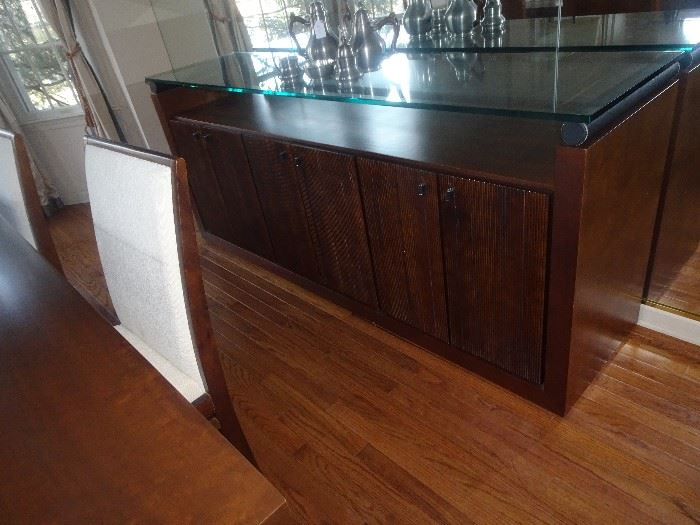 "Modern Credenza with Glass Top - 79""L X 20""D X 34""H"
