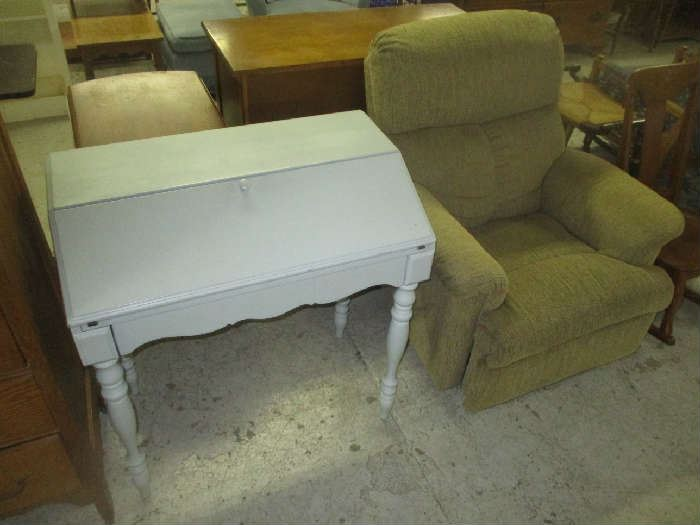 Desk and recliner