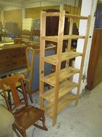 Shelf and rocking chair