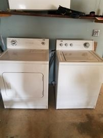matching washer and dryer. works perfectly. $350 set firm.