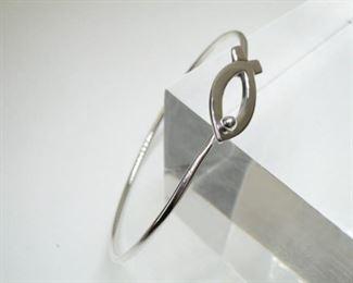 925 Sterling Silver Ichthus Fish Bracelet