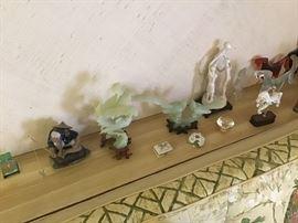 Jade Asian figures