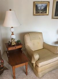 Vintage chair and end table