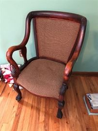 One of 2 beautiful antique chairs