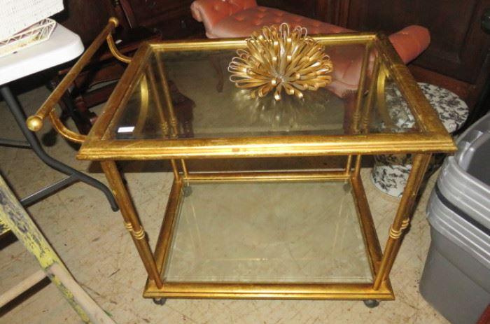 Gold Gilded Bar Cart