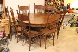 Tiger Oak Dining Set