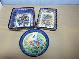 NEW--Handmade Polish Stoneware Signature Collection https://ctbids.com/#!/description/share/104868