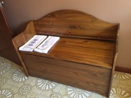 Bench with storage.