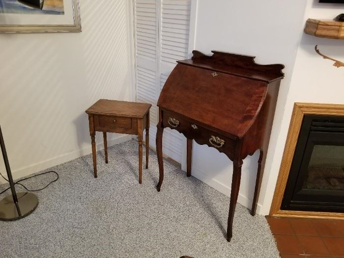 Secretary desk, 30 inches wide