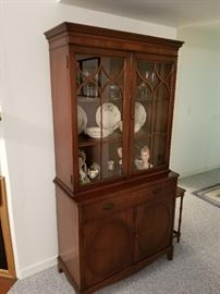 Duncan Phyfe China Cabinet, 36 inches wide by 72 inches tall, in excellent condition