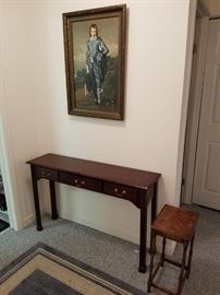 Sofa  table, 12 inches deep by 48 inches long