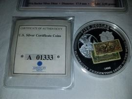$5 silver certificate coin