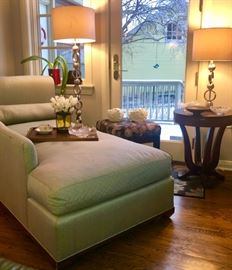 Chaise Lounge, Love the lamps, Occasional Tables