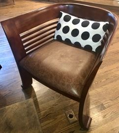 This is a fun chair, definite art deco lines to it