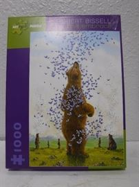 1000 piece puzzle bear and butter flies