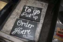 2 Signs Pickup and Order Here