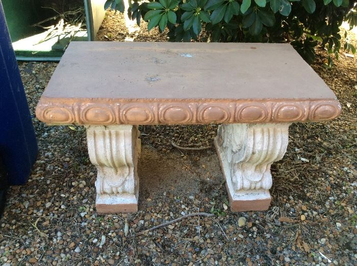 Small cement bench