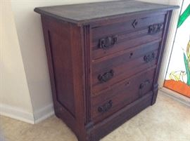 Beautiful old 3-drawer cabinet
