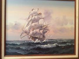 Majesty on the seas original art