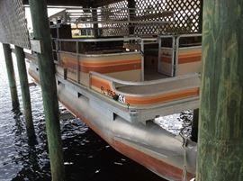 1985 24' SunTracker Party Barge.  Mercury 50HP (needs water pump). Seats 11. Needs work