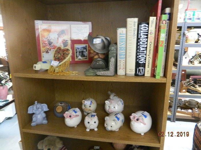 books/piggy banks