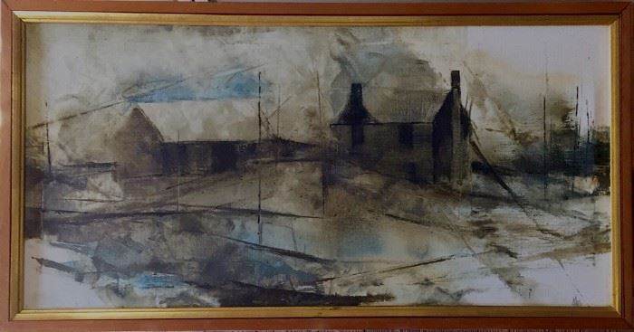 Original Early P. Buckley Moss Oil Painting, Accepting Offers for a Limited Time.