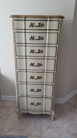 French provincial ligerie chest. (Sold sep or with matching dresser)