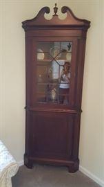 Antique Corner Cabinet (keys for top & bottom)