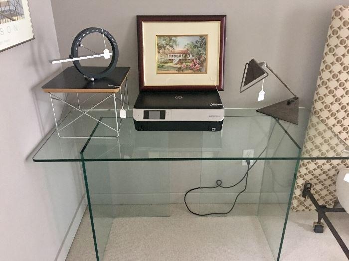 Fantastic all glass desk - very heavy