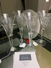 Group of Waterford 2000 champagne flutes