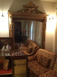 Large full length antique mirror from a California Estate