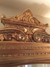 Top of antique Mirror