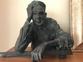 """Bronze Sculpture """"The Farmer #1"""""""