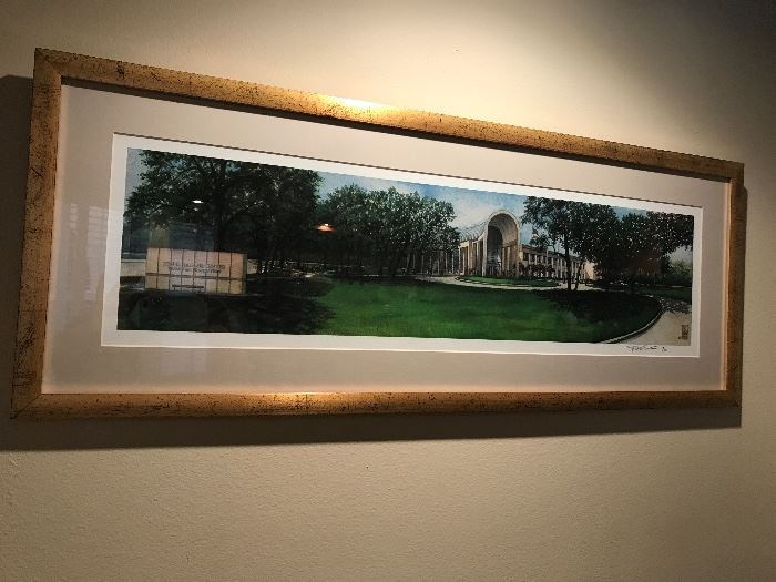 Texas A&M Limited edition print.  One of numerous Texas A&M items in this sale.