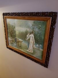 Gorgeous antique framed print - very 'Pride and Prejudice-like'