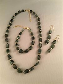Stauer Amazonite Emerald Set
