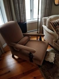 George Smith mohair velvet chair