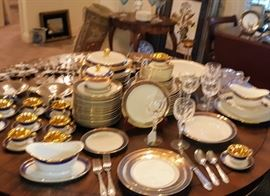 """Rosenthal China, Waterford """"Sheila"""" Hock Wines..."""
