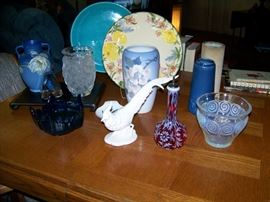 Lalique,  Royal Copenhagen, Franciscan Ware, Poppy trail, Roseville, Bohemian Glass