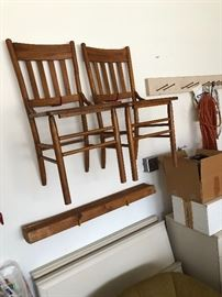 Back chairs.