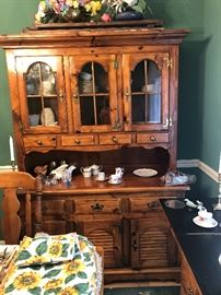Ethan Allen pine collection China cabinet