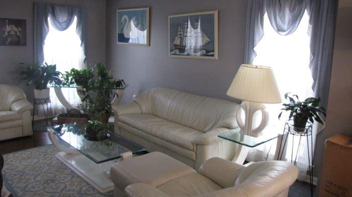 Natuzzi Leather living room set
