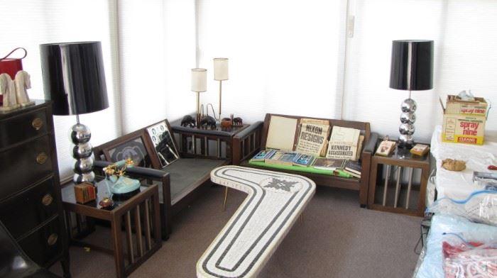 Mid Century Living room set, minus cushions.
