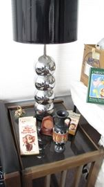 Pair of MCM Kovac's Stacked Ball Lamps - shades in poor cond, lamps fabulous.