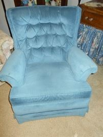 Tufted swivel rocker