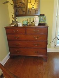 5 drawer antique chest in den