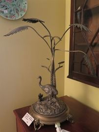 gorgeous sculpture of Heron and tree