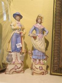 pair German statues, large