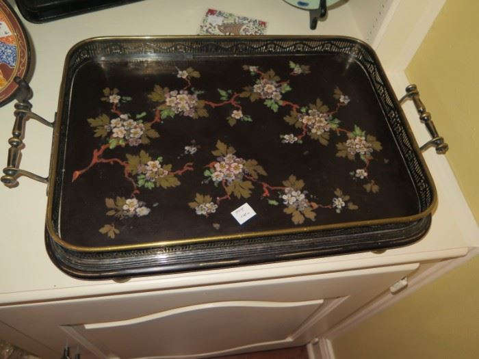fabulous antique english tray