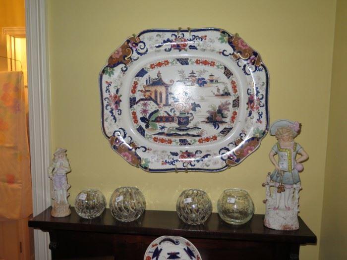 huge Panang platter, circa 1839 and more